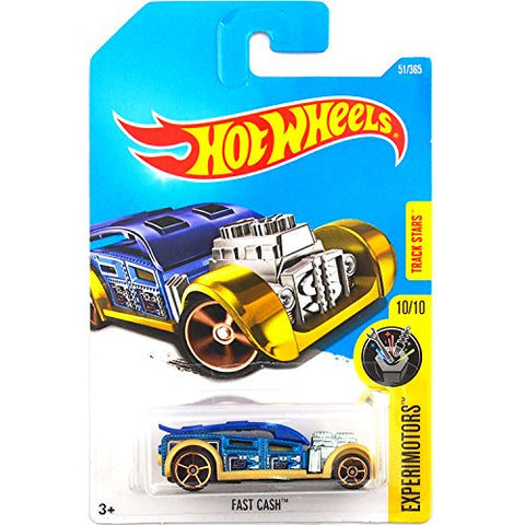 Hot Wheels 2017 Experimotors Fast Cash 51/365, Blue and Gold