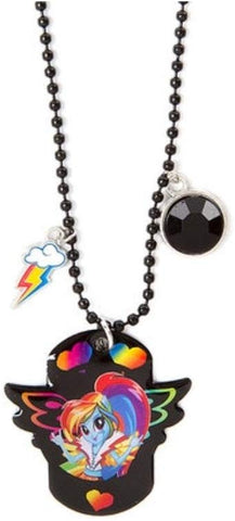 My Little Pony Equestria Girls Dog Tag Pendent Necklace, Rainbow Dash