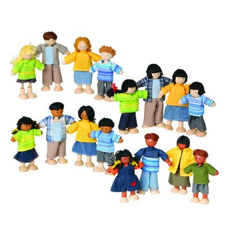 Constructive Playthings Set Of 4 Posable Families