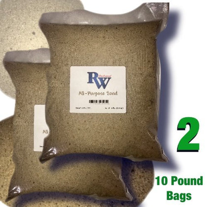 Rockwood Rock Wood All Purpose Sand - 10 Pound Bags Of Natural Play Sand - Two Pack