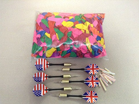 king's store 200 pcs 5  balloons and6 set of darts