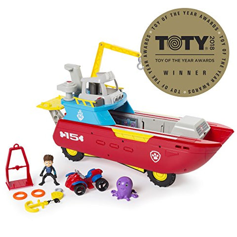 Nickelodeon Paw Patrol - Sea Patrol  Sea Patroller Transforming Vehicle with Lights and Sounds