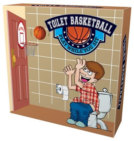 Toilet Basketball Play While You Sit