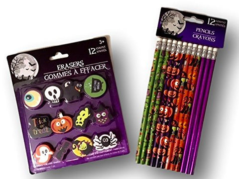 Halloween Pencils and Erasers