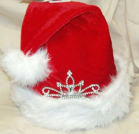 Santa Hat with Princess Crown Adult Sized