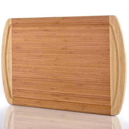Comllen Extra Large Bamboo Cutting Board, 18  X 13  Eco-Friendly Thick Strong Bamboo Kitchenware
