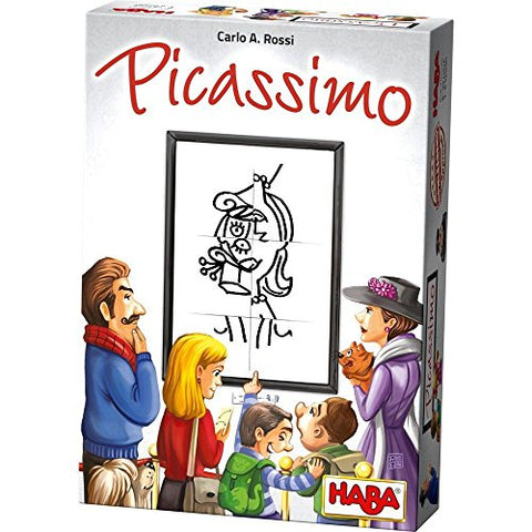 HABA Picassimo - A Crazy Award Winning Jigsaw Drawing Game for Ages 8 and Up (Made in Germany)