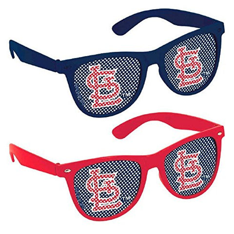 Sports and Tailgating MLB Party St. Louis Cardinals Printed Glasses Accessories, Plastic, Adult Size