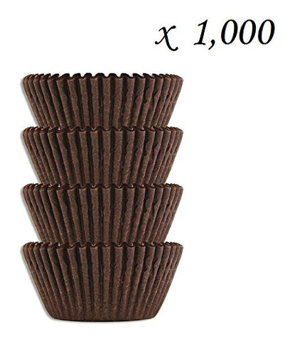 #4 Brown Glassine Paper Candy Cups - Chocolate Peanut Butter Baking Liners (1000)