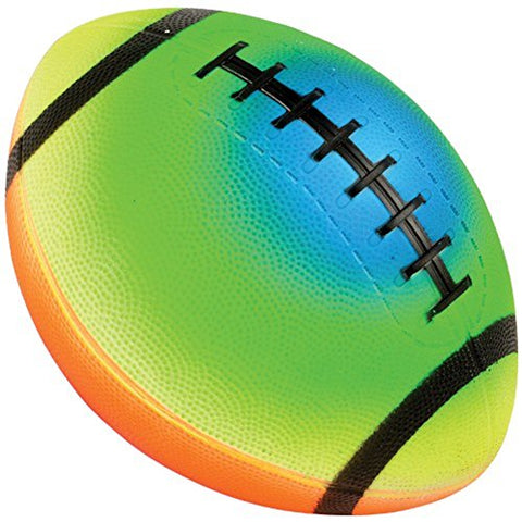Child Size Rainbow Design PVC Inflatable Football (1)