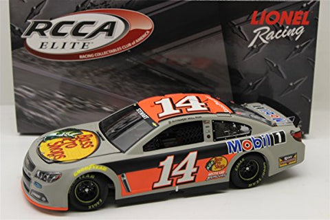 Tony Stewart 14 Mobil 1/Bass Pro Shops 2014 SS Chevrolet Sprint Cup Diecast Car, 1:24 Scale Elite HOTO, Official Diecast of NASCAR