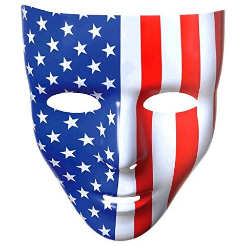 Amscan Full Face Mask, Party Accessory, Red, White And Blue