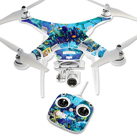 Mightyskins Skin Compatible With Dji Phantom 3 Standard  Ocean Friends | Protective, Durable, And Unique Vinyl Decal Wrap Cover | Easy To Apply, Remove, And Change Styles | Made In The Usa