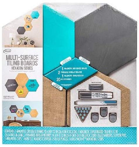 Multi-Surface Tiling Boards Hexagon Series Aqua