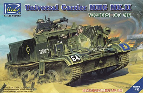 RCH35016 1:35 Riich Universal Carrier MMG Mk.II Vickers .303 MG [MODEL BUILDING KIT]