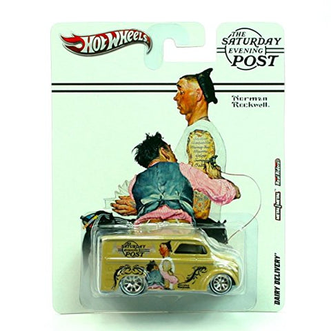 HOT WHEELS * Norman Rockwell * The Saturday Evening Post * DAIRY DELIVERY * METALl/METAL RealRiders * A heavy metal vehicle