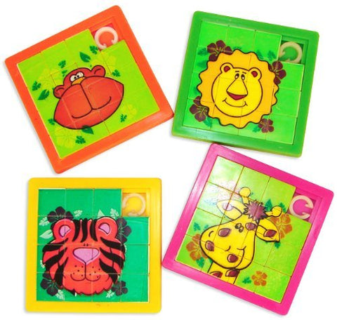 Zoo Animal Slide Puzzles (1 Dozen)