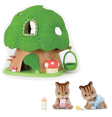 Calico Critters Discovery Forest Treehouse Playset with Hazelnut Chipmunk Twins Bundled by Maven Gifts