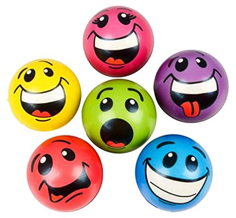 Rhode Island Novelty 2.5  Stress Silly Face Balls Toy Activity and Play