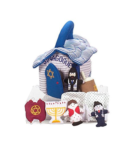Plush Synagogue Toy with 9 removable play pieces
