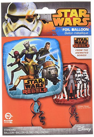 Anagram International Hx Star Wars Rebels Packaged Party Balloons, Multicolor