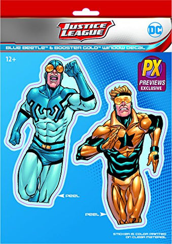 Elephant Gun DC Heroes Booster Gold & Blue Beetle Vinyl Decal