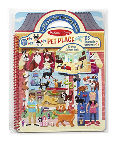 Melissa & Doug Pet Shop Puffy Sticker Set With 115 Reusable Stickers