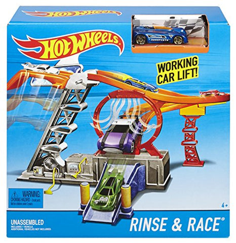 Hot Wheels Rinse & Race Play Set