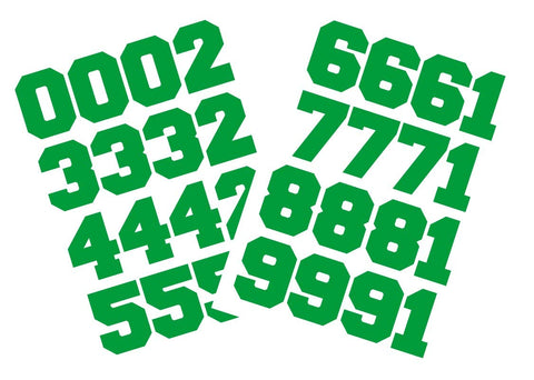 "Chalkallaboutit Sports Helmet Numbers 1.5"" Baseball, Hockey, Football And Lacrosse (Green)"