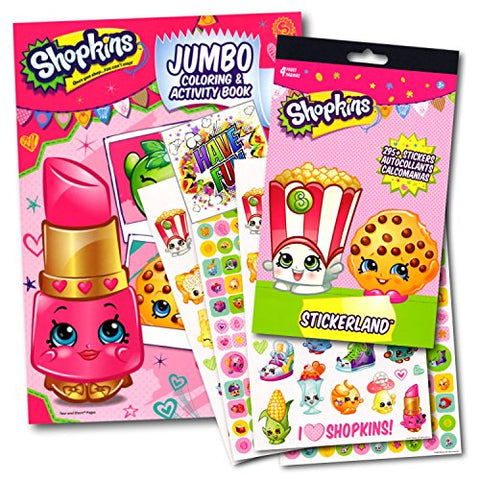 Shopkins Coloring Activity Book With Stickers Set Bundle with Separately Licensed Specialty GWW Reward Stickers