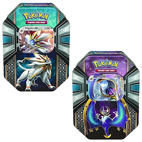 Pokemon TCG: Sun & Moon, Collector Tin Bundle Of Solgaleo & Lunala