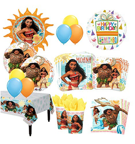 The Ultimate 8 Guest 51pc Moana the Movie Birthday Party Supplies and Balloon Decoration Kit