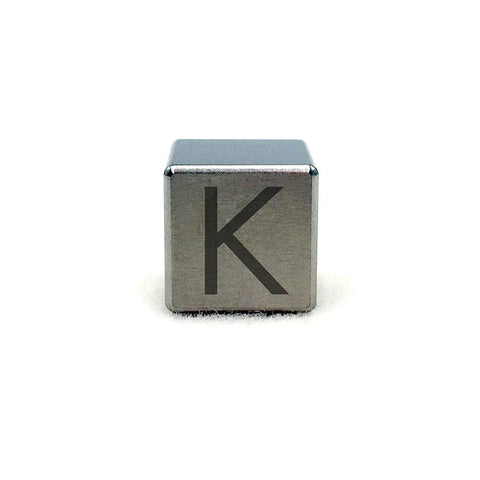 "Tungsten Engraved Cube - 0.5"" (K)"