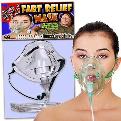 Love Stinks Fart Relief Mask  Fart Gifts Funny Gifts for women  Funny Bridal Shower Gifts  Oxygen Mask Gag  Gifts for Wives  Dutch Oven Mask by Gears Out