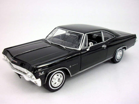 Chevy Impala (1965) Ss 396 1/24 Scale Diecast Metal Car Model - Black