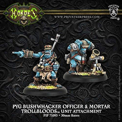 Privateer Press Hordes Troll Bloods Pyg Bushwhacker Officer Mortar Kit