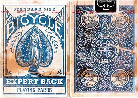 Bicycle Distressed Blue Expert Back Playing Cards