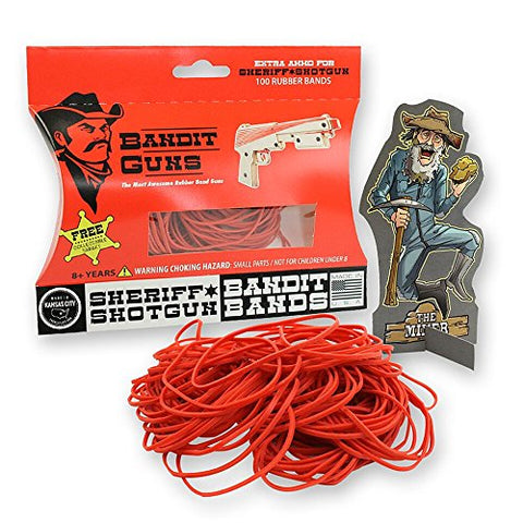 Bandit Guns Sheriff Shotgun Extra Ammo Craft Kit, Red