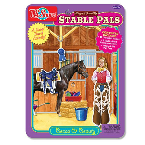Stable Pals Becca & Beauty Magnetic Tin Playset