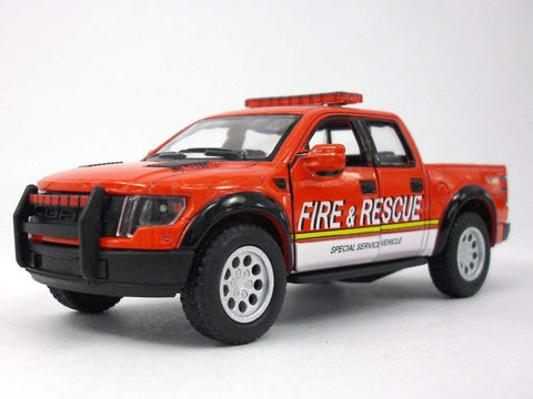 F-150 Svt Raptor Fire Rescue 1/46 Scale Diecast Metal Model - Red