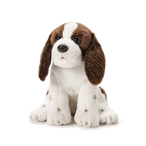 Demdaco Springer Spaniel Plush Fabric Beanbag Figure Toy Brown And White, 6 Inch