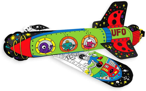 Ooly 3D Colorables Coloring Toys, (Set Of 2) - Space Age Rockets