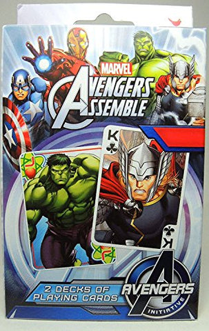 Marvel Avengers Assemble 2 Deck Playing Cards