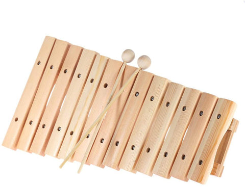 Ammoon Musical Xylophone Piano Wooden Instrument For Children Kids Baby Music Educational Toys With 2 Mallets