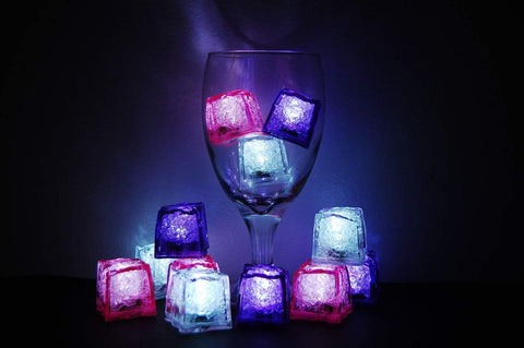 Litecubes Brand 3 Mode Jewel Color Tinted Girls Night Out Theme Led Light Up Ice Cubes-