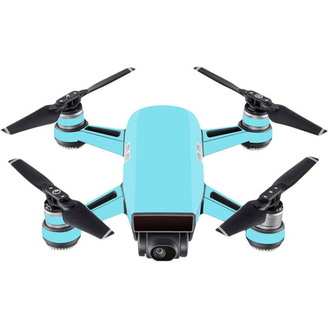 Mightyskins Skin Compatible With Dji Spark Mini - Solid Baby Blue | Protective, Durable, And Unique Vinyl Decal Wrap Cover | Easy To Apply, Remove, And Change Styles | Made In The Usa