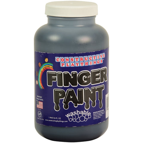 Constructive Playthings Washable Finger Paint - Black