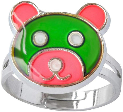 Inspiration Bear Finger Ring Adjustable Size Decorations Mood Ring Color Changing