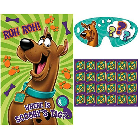 Amscan Awesome Scooby-Doo Party Game Birthday Party Supply, 37-1/2 x 24-1/2 , Teal/Purple/Green
