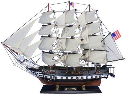 Hampton Nautical Wooden Uss Constitution Tall Model Ship, 30""